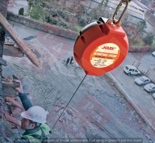 ảnh minh họa cách sử dụng hộp dây chống rơi HE-6N