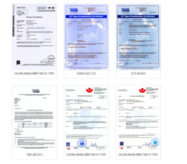 giấy chứng nhận đạt chuẩn